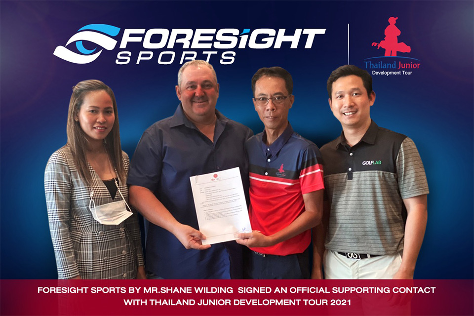 Foresight Sports by Mr.Shane Wilding Signed an official supporting contact with Thailand Junior Development Tour 2021